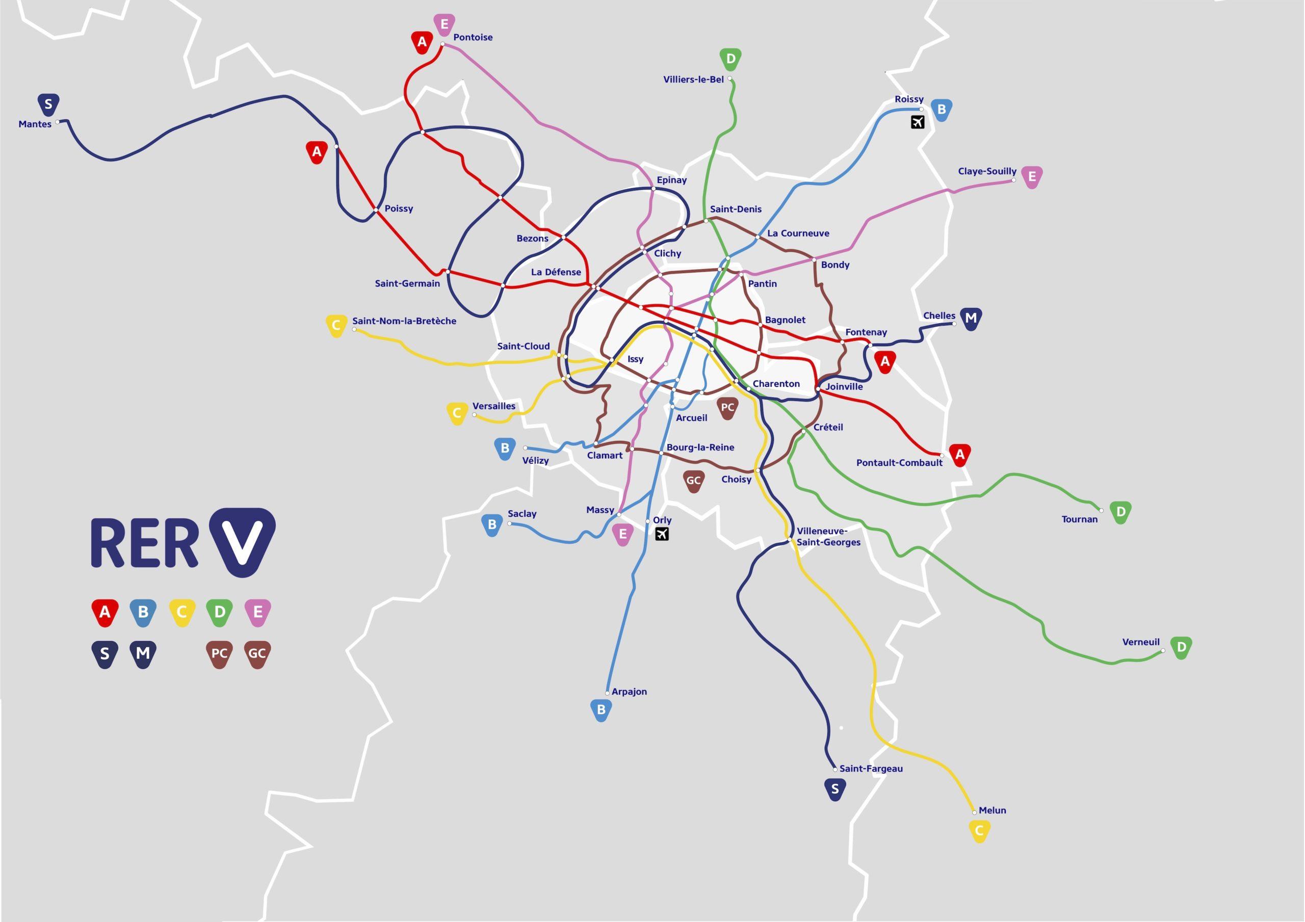 Carte du RERV